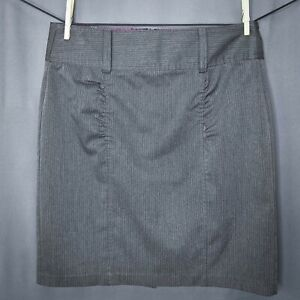 Style that Works by Vanity Womens Skirt Size 9 Gray Pinstriped Pencil Career