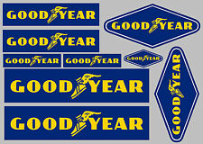 GOODYEAR decal set 9 quality printed and laminated stickers free delivery