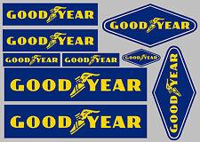 Goodyear Decal Set 9 Calidad impreso y laminado Pegatinas Entrega Gratis