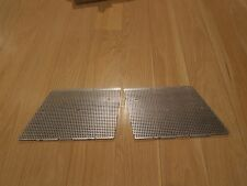 NOS PAIR OF LEFT AND RIGHT 85-90 TRANS AM GTA FRONT HOOD LOUVER SCREENS SILVER