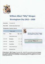 Billy Morgan Birmingham City 1912-1920 Extremadamente Rara Original Firmado De Corte