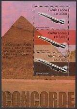 Aeromobili: 2004, la Sierra Leone CONCORDE volo FINALE M / Sheet sgms4185 MNH