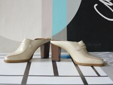 IMPEXA Damen Schuhe High Heels Clogs Leder 90er TRUE VINTAGE 90s shoes pumps NOS
