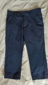 Next Boys Age 3 Suit Trousers Formal Navy Blue Wedding Party Christening