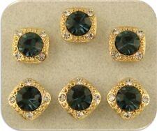 2 Hole Beads ~ Gala 8mm Montana Swarovski Crystal Elements GOLD ~ Sliders QTY 6