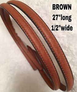 """Straps Replacement BROWN    1/2""""wide(thin) Brandnew"""
