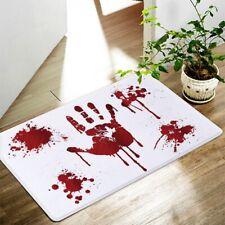 Blood Bath Mat Footprints Rugs Towel Bath Floor Mat Bloody Horror Halloween sdtr