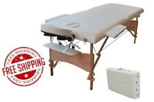 BEST Table Massage Bed Portable Spa Adjustable Facial 3 Fold Bolster Headrest