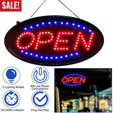 Ultra Bright Led Neon Open Sign Light Animated Flashing Business Store Ad Board