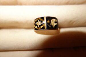 Mary Thomas Richard T Thomas Men's Silver Inlay Ring (preowned)
