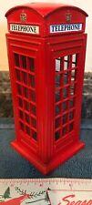 METAL London Red Phone Box Telephone Booth Kiosk Coin Money Saving Piggy Bank