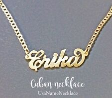 Personalized  name necklace  24K Gold-plated , Custom Cuban Name necklace