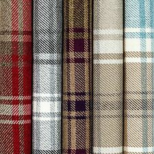 Angus Tartan Check Flat Woven Fabric - Upholstery Drapery and Craft. Red Sample