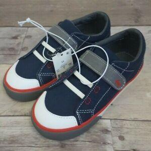 See Kai Run Toddler Boys Size 11 Basics Monterey II Sneakers Navy Red