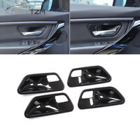 4X/set ABS Carbon Fiber Car interior Door Handle Bowl trim For BMW 3 4 Series