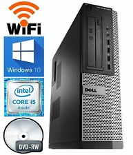 Dell Desktop Computer Quad Core i7 8GB RAM 1TB HD Windows 10 Pro PC DVD-RW WiFi
