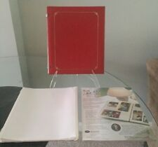 Creative Memories 8x10 Red Album + White Scrapbook Refill Pages + 1 Protectors