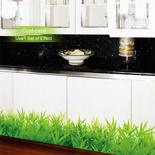 New Green Grass Wall Stickers Removable Bedroom Kitchen Decals Home Decoration
