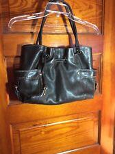 Fossil Purse Castille Satchel Tote Shoulder Handbag  ZB2133 Black Leather