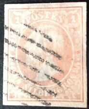 Luxembourg 1852 1s pink Red Stamp vfu