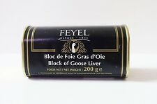 El foie gras d 'oie foie gras Bloc Feyel 200g lata original de Francia!