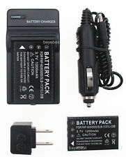 2XBattery+Charger for HP Photosmart R507 R607 R607xi R927 R937 R967 Digi Camera