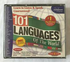 Vintage Transparent Language 101 Languages of the World CD-ROM 4 CD Set