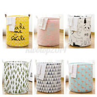 US Foldable Laundry Hamper Basket Dirty Clothes Storage Bag Washing Bin Home