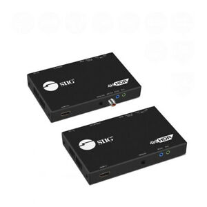 SIIG 4K HDR HDMI 2.0 & USB 2.0 Extender Over HDBaseT with RS-232 & IR (CE-H23411