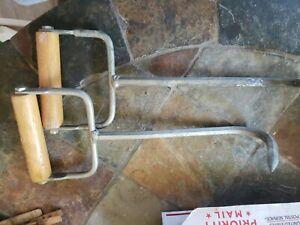 """2-Bond  Pre Owned Hay Hooks  Wood Handle 11 3/4"""" Long"""