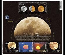 België / Belgium - Postfris / MNH - Sheet Supermoon 2016