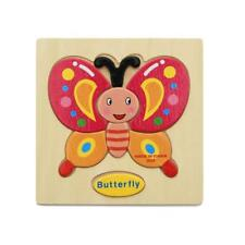 Wooden Cartoon Butterfly Blocks Toddler Baby Kids Child Education Toy Puzzle