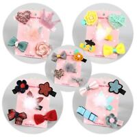 5Pcs/Lot Hairpin Baby Girl Hair Clip Bow Flower Mini Barrettes Star Kids Infant