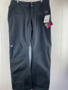 NWT Obermeyer Malta Black THERMORE Water Resistant Pants Women's Size 12