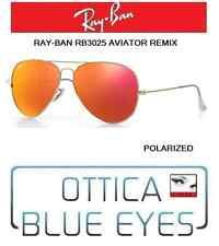 Occhiali da Sole RAYBAN AVIATOR 3025 Ray Ban REMIX GOLD orange POLAR sunglasses
