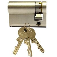 Enfield Replacement Cardale Garage Door Euro Cylinder Lock Barrel 40mm 3 Keys