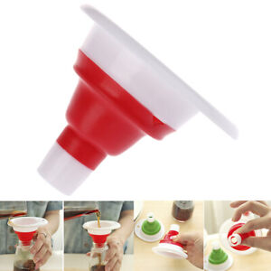 Tablecraft Collapsible Silicone Funnels Red