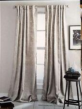 NWOP DKNY Beige UPTOWN LOFT Window Curtain Panels 50x84 PAIR Room Darkening