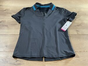 Lucky In Love Lil Chi Chi SS Polo Shirt Black Womens Size XS ( GT29-001) NWT!!