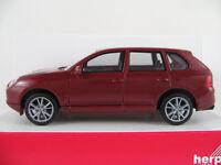 Herpa 033152 Porsche Cayenne Turbo (2002) in weinrotmetallic 1:87/H0 NEU/OVP