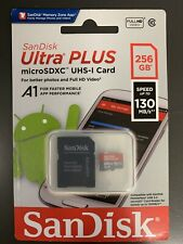 Authentic SanDisk Ultra Plus 256GB Micro SD 130mb/s microSDXC Memory Card A1