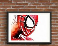 SPIDERMAN Print , Canvas ,Art , Gift Idea A3 or A4