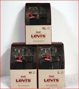 2 BELTS - Levi's Men's REVERSIBLE BELT Set - BLACK & BROWN  - Size XL or Large