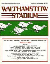 Wonderful 1986 Walthamstow Stadium  Greyhound Racing booklet .