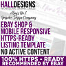 eBay Store Shop Banner & Logo & Listing Template Design Service 2019 Compliant