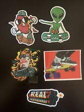 New listing Skateboard Stickers (5) Alien, Real Skateboards, Donut, Milkshake, Deck