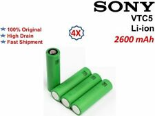 4x Sony VTC5 18650 2600mAh 30 Amp Rechargeable Battery High Drain Batteries UK