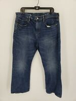 Gap Men's Size 36 X 30 Relaxed Blue Jeans Denim  Dark Wash