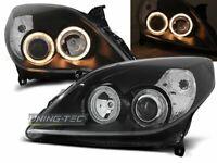 Headlights for Opel VECTRA C 05-08 Angel Eyes Black UK RHD/LHD LPOP66-ED XINO