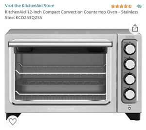 KitchenAid 12-Inch Compact Convection Countertop Oven - Stainless Steel